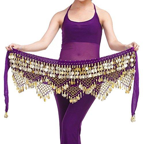 Best Dance Damen Bauchtanztuch Gr. One size, violett