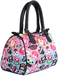 8e1c25f71c7f Bangprice Canvas digital printed multipurpose Owl Rama designer stylish  duffle tote and handbag for Girls