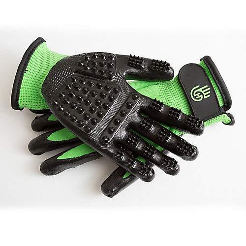 #1 preisgekrönte Handson-Handschuhe für Schuppen, Baden, Fellpflege, Pferde, Hunde, Katzen, Tiere, kleine Haustiere, Medium, grün -