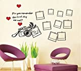 #10: SYGA Black Camera With Photo Frames Decals Design Wall Stickers