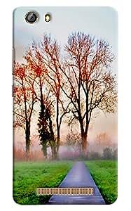Omnam Road Heading Towards Tree Printed Designer Back Cover Case For Gionee Marathon M5 Lite