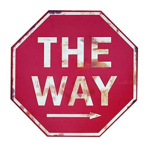 Panneaux Stop - Panneau Stop–The Way–Panneau Stop Tôle avec fixation