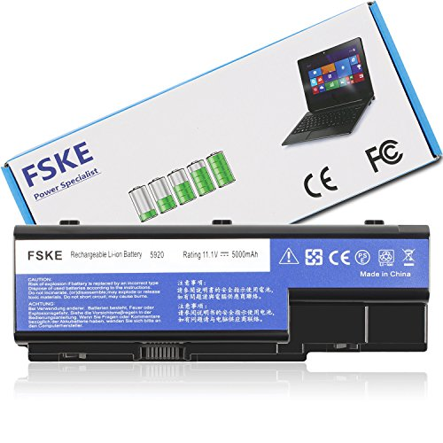 FSKE® AS07B31 AS07B32 Laptop Akku für ACER AS07B61 AS07B51 AS07B41 AS07B42 AS07B72 AS07B71 Aspire 5920 5920G 5520 5530 6530 Notebook Battery, 11.1V 5000mAh 6-Zellen