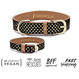 Freindshipcollar Hundehalsband Hund Herrchen Frauchen Set Halsband Armband Leder / M The Dotty About You - 2