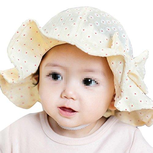 TININNA Chapeau de Soleil d'été Imprimé Fleur Floral Anti-UV Bébé Unisexe Enfant Bonnet Casquette Fille et Garçon 6mois-2ans Beige