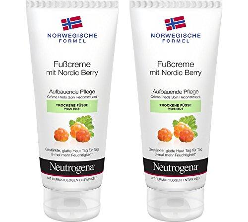 Neutrogena Norwegische Formel Fußcreme mit Nordic Berry, 2er Pack (2 x 100 ml)