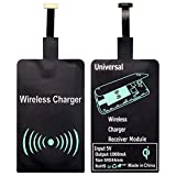 Qi Wireless Receiver, ZXK CO Universal Micro USB Qi Wireless Ladegerät Empfänger Wireless Charger Receiver Adapter für Android Handy Samsung Galaxy S4/S5/S6/Note 3/Note 4, Sony Xperia Z3/Z4/Z5, LG G4, Moto G4 und andere Mikro-USB-Android-Smartphone
