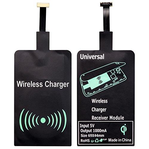 Qi Empfänger, Qianyou Universal Micro USB Shnittstelle Sehr dünn Wireless Ladegerät Receiver Empfänger Induktives Laden für Samsung Galaxy S3/S4/S5, Sony, LG und anderes Android-Handy Universal Wireless Adapter