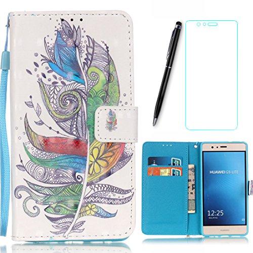 Lotuslnn Carcasa para Samsung Galaxy Note 5, dibujo colorido, tipo cartera, flip Wallet Funda de cuero para Samsung Galaxy Note 5, Carcasa + lápiz capacitivo + protector de pantalla