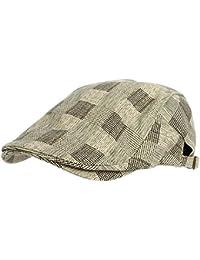 WITHMOONS Sombreros gorras Boinas Bombines Tartan Check Newsboy Hat Flat Cap SL3036