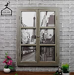 gzd gef lschte fenster dekoration retro alte falsche fenster massivholz wanddekoration. Black Bedroom Furniture Sets. Home Design Ideas