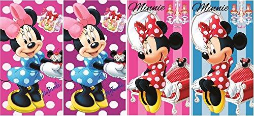 Disney Minnie Mouse asciugamano 4pezzi set 35x 65cm (69924)