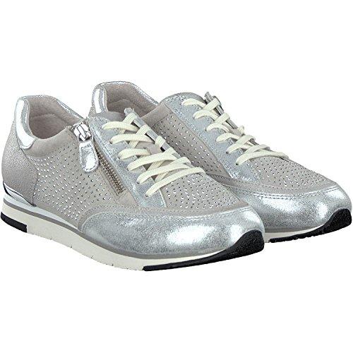 GABOR - Damen Sneaker - Silber Schuhe in Übergrößen, Größe:43