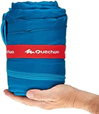 Quechua 8353393 Arpenaz 25 Polyester Camping Sleeping Bag, Junior 6ft (Blue)