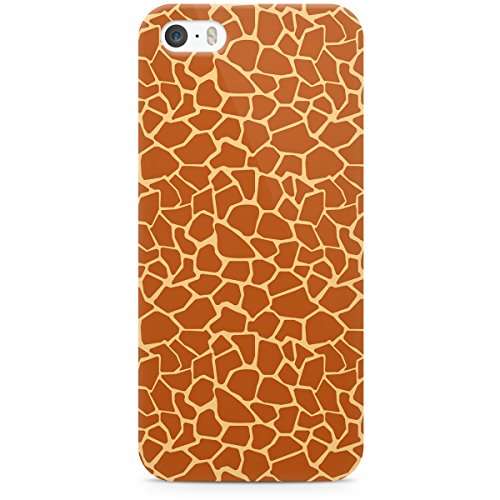 Queen Of Cases Coque pour Apple iPhone 5S Motif imprimé girafe-Premium Marron en plastique