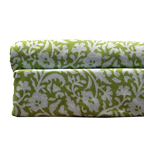 Brielle Ägyptische Baumwolle Jersey, Green Print, Standard Pillow case set