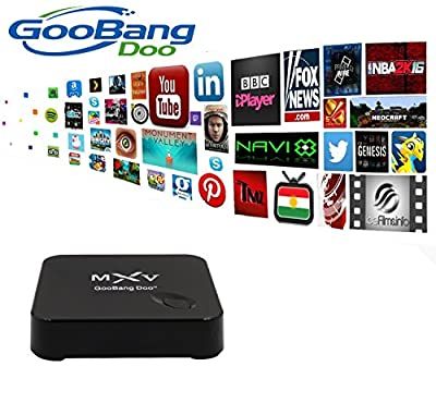 [2016 New Arrival] GooBang Doo MXV MX5 Android TV Box Fully loaded Add-ons Newest KODI with GooBang Doo Cleaning Cloth and Customer Support Card
