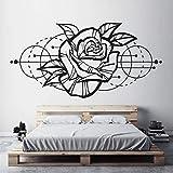 BFMBCH Rose wandkunst aufkleber moderne geometrische dekoration wohnzimmer abnehmbare dekoration wandaufkleber schlafzimmer kunst wandaufkleber 04 gelb 84x42 cm
