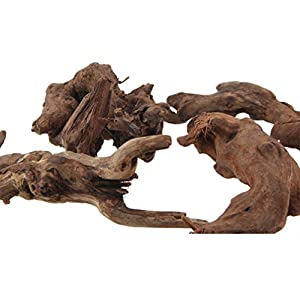 Emours Natural Driftwood Branches Reptiles Aquarium Decoration Assorted Size,Small,4 Pieces from Pet accessories