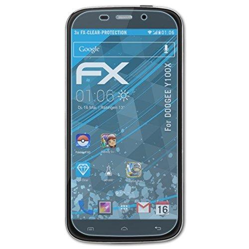 atFolix Schutzfolie kompatibel mit DOOGEE Y100X Folie, ultraklare FX Bildschirmschutzfolie (3X)