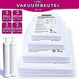 Provacu, Innovative Vakuumbeutel, Big PACK12 TLG Set ✅⭐⭐⭐⭐⭐✅ Vakuumierbeutel mit Doppel Handpumpe Aufbewahrungsbeutel für Kleider Textilien, wiederverwendbar Vakuum Beutel