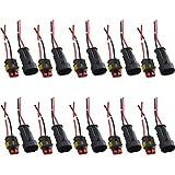 Mintice™ 10 X 2-Polig Kabel Steckverbinder Stecker Wasserdicht Schnellverbinder Draht Elektrisch Ausrüstung KFZ LKW Auto