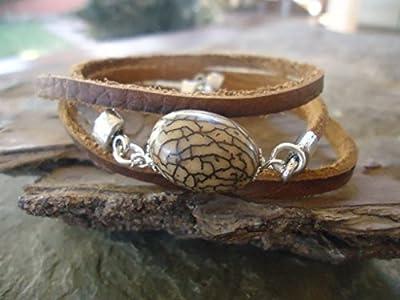 ? Ungurahua & SPIRAL ? bracelet en cuir ethno