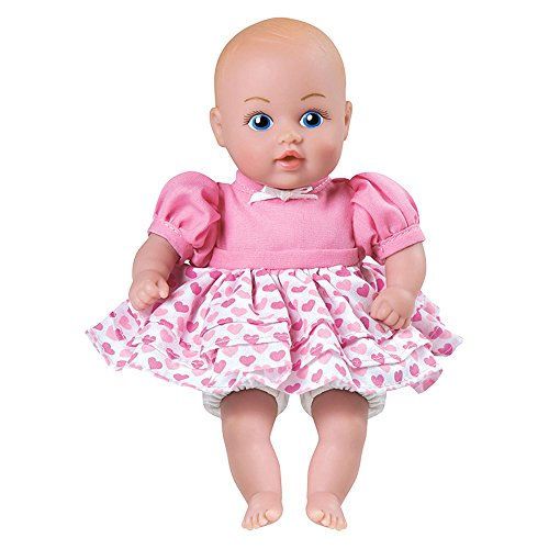 """Adora Baby Tots Pink Dress 8.5"""" Girl Weighted Cuddly Washable Soft Snuggle Play Doll Baby Powder Scented Toy Gift for Children 1+"""