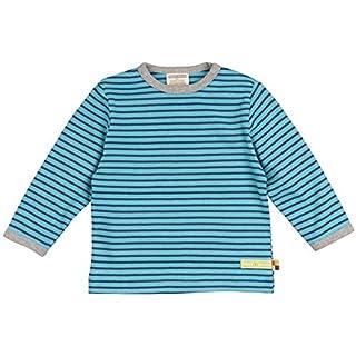 loud + proud Unisex Baby Shirt Ringel aus Bio Baumwolle, Blau (Lake La), 104 (Herstellergröße: 98/104)