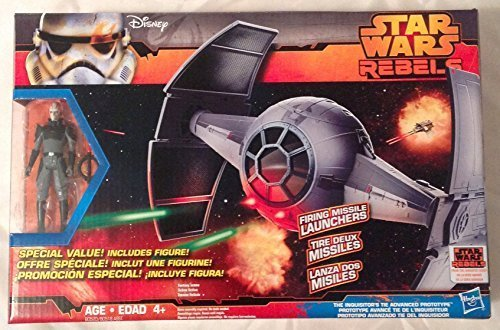 Star Wars Rebels Inquisitors Tie Advanced Prototype Vehicle with Bonus Figure Inquisitor by (Inquisitor Star Wars)