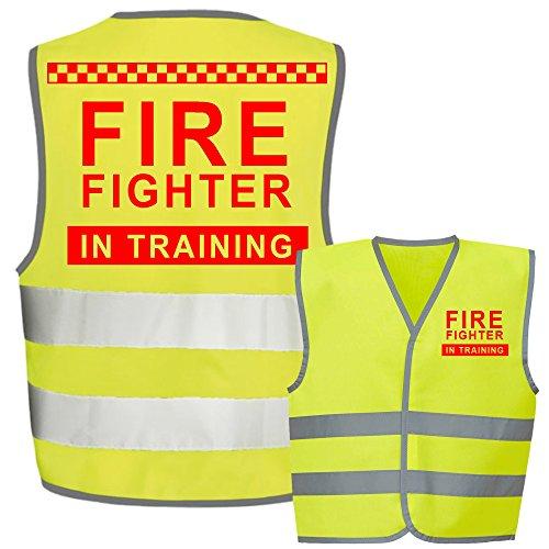 Fire Fighter Kids,Childs Hi-Vis Safety Vest Jacket High Visibility Viz