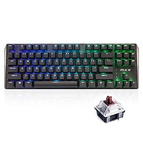 RantoPad MXX Gaming-Tastatur mechanisch, QWERTY, 87Tasten RGB-Brown