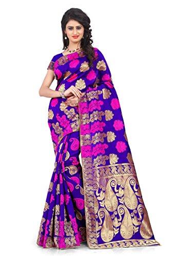 Wilori Mind Blowing Blue Banarasi Silk & Banarasi Work Five Star Saree