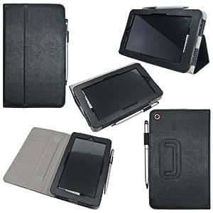 IVSO® HP Slate 7 7-Inch Slim-BOOK PU Leather Stand Cover Case (Black)