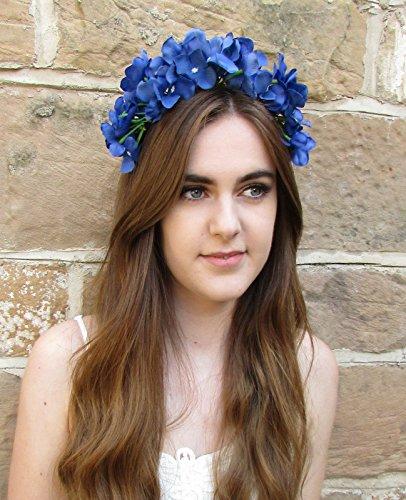 Hortensia bleu cheveux fleur couronne bandeau Festival Vintage Daisy Garland T24 * * * * * * * * exclusivement vendu par – Beauté * * * * * * * *