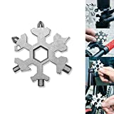 Multi-Tool in Acciaio Inox, Mini Portable Snowflake Multi Tool, cacciavite Bottle Opener Keychain Anti-Lost Incredible 15-in-1 Tool Regalo di Natale