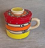 Wasserbutterdose mit Griff und Wasserkühlung Keramik in ozova