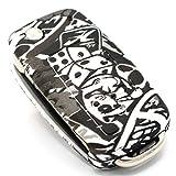 Schlüssel Hülle VA für 3 Tasten Auto Schlüssel Silikon Cover von Finest-Folia (.Stickerbomb)