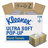 KLEENEX* ULTRA SOFT POP-UP Asciugamani intercalati 1126-18 scatole x 70 fogli a 1 velo, Bianco