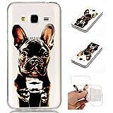 Galaxy J3 Case, Anlike Schutzhülle Handytasche Cover Case Weiche TPU Silikon Schlank Flexibel Handy Hülle für [Samsung Galaxy J3 /J310 (5,0 Zoll)] Malerei Stil Design - Hunde