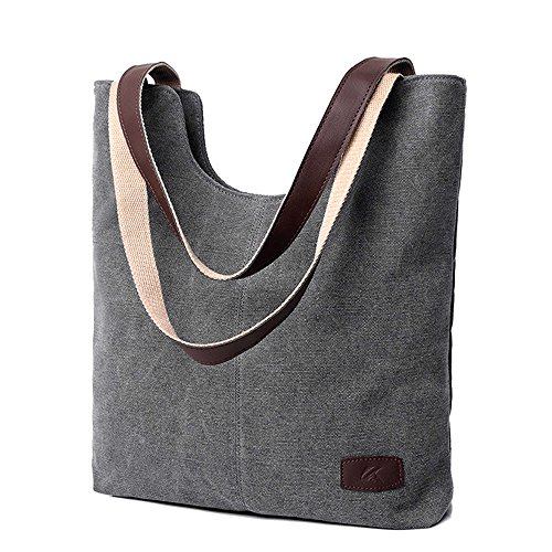 (Zhen+zhen Canvas Damen Bag Schultertaschen Function Bag Crossbody Bag Tote Handtaschen Shopper Tasche Schultertasche für Schule Reisen Arbeit und Einkäufe Damen Handtaschen (D))