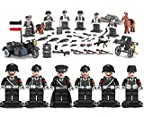 Mini figures Unité SS Armée allemande WW2 Figurines de 6 pièces avec armes...