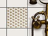 creatisto Fliesendekoration Dekorationssticker | Fliesen-Folie Sticker Aufkleber selbstklebend Badezimmer renovieren Küche Wall Art | 15x15 cm Muster Ornament Falling Cubes - Braun - 1 Stück