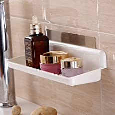 MeRaYo™ Magic Sticker Series Self Adhesive Multifunction Wall Mounted Bathroom/Cosmetic Shelf. (Pack of 1)