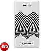 Samsung BT-EFEN900BW Custodia Flip per N9005 Galaxy Note 3 Design da N Kirkwood, Bianco