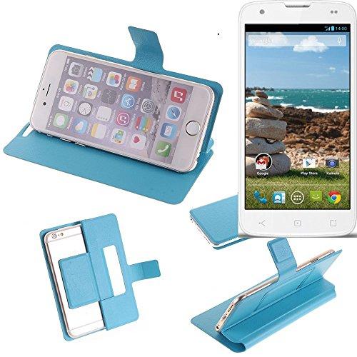 K-S-Trade Flipcover für MobiWire Ahiga Schutz Hülle Schutzhülle Flip Cover Handy case Smartphone Handyhülle blau