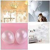 NUOLUX-100-piezas-de-12-pulgadas-Color-brillante-metlico-globos-de-ltex-blanco