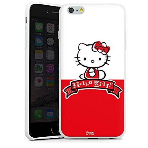 Apple iPhone X Silikon Hülle Case Schutzhülle Hello Kitty Merchandise Zubehör Cute Silikon Case weiß