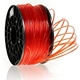 Kaisertech Filament für 3D Drucker 1kg PLA / ABS 1.75mm / 3mm— Premium Qualität & verschiedene Farben für MakerBot RepRap MakerGear Ultimaker uvm. (PLA 1.75mm, Transparent Rot)