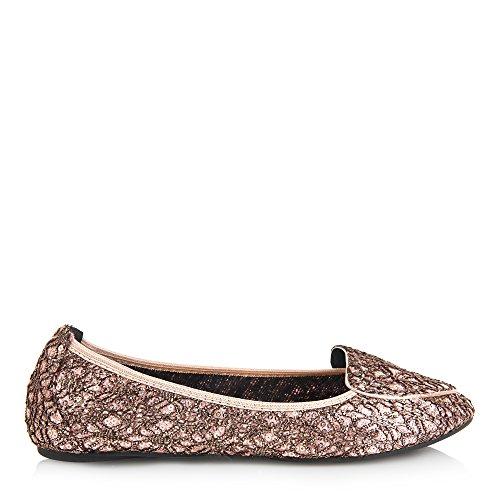 Cocorose Faltbare Schuhe - Royal Ballet Damen Ballerinas - Juliet Rosa Gold - größe 41 -